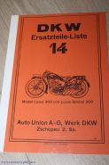 Каталог з/ч DKW Luxus 300, 200